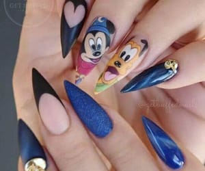 disney, micky mouse, and nails image