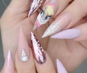 nails, lolabunny, and pink image