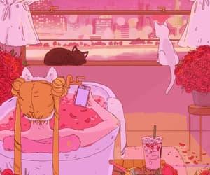 gif, pink, and sailor moon image