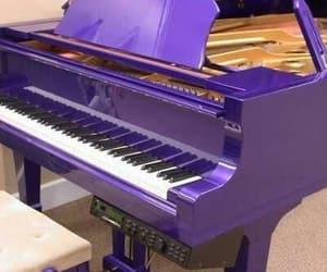 music, piano, and purple image