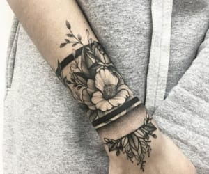 flowers, tattoo, and luxury image