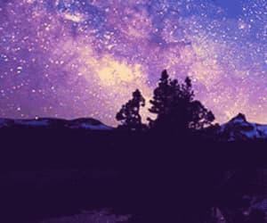 gif, stars, and night image