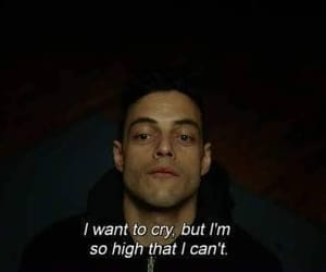 quotes, cry, and mr robot image