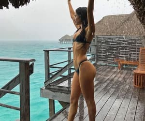 beach, bora bora, and fitness image