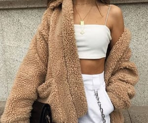 beauty, brown, and fur coat image