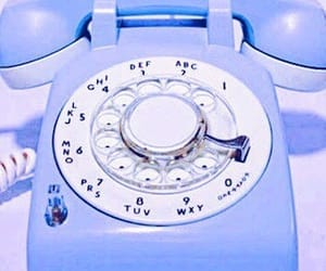 blue, telephone, and vintage image