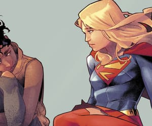DC, Q, and Supergirl image
