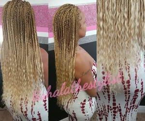 black women, blonde, and hair image