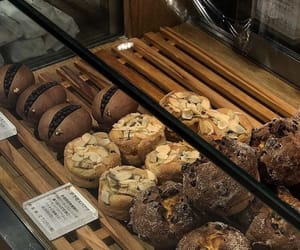 almond, bakery, and muffins image