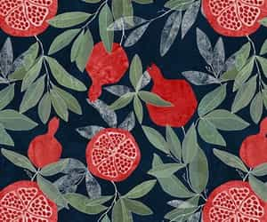 fruit, pattern, and pomegranate image