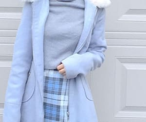 blue, aesthetic, and outfit image