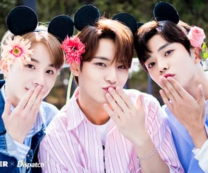 mingyu, jungwoo, and rowoon image