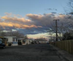asphalt, trailer park, and blurry image