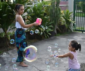 bubbles, outdoors, and chills image