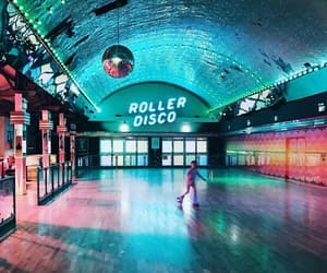 places, retro, and rink image