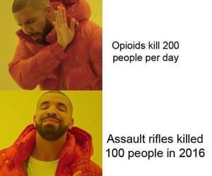 Drake, gun control, and meme image