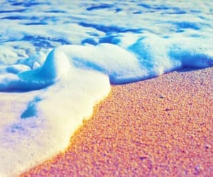beach, gradient, and sand image