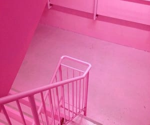 pink, stairs, and stairway image