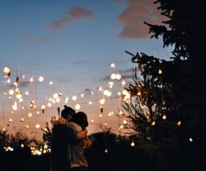 couple, pretty, and hug image