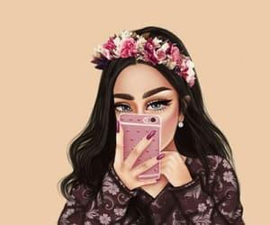 رسم بنات and سناب image