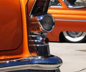 cars, vintage, and orange image