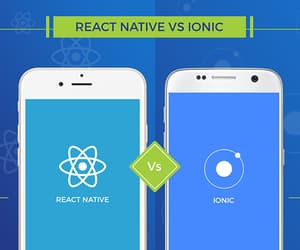 mobile app development, ionic developer, and react native developer image
