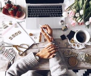 girl, work, and beauty image