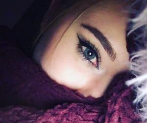 eye, eye liner, and lashes image