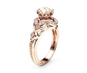 etsy, designer ring, and filigree ring image
