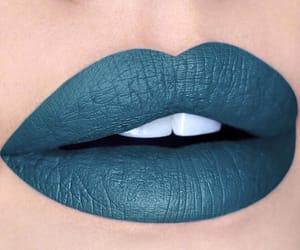 blu, lipstick, and rossetto image