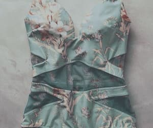 design, swimsuit, and floral image