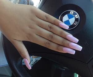 nails, bmw, and pink image