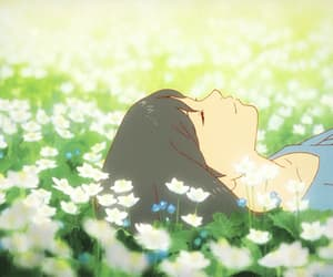 anime, flowers, and gif image