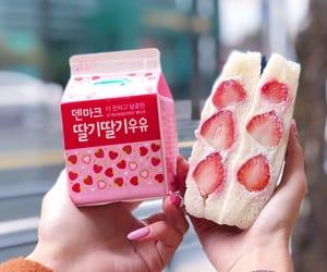 kawaii, milk, and pink image