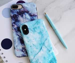 apple, blue, and case image