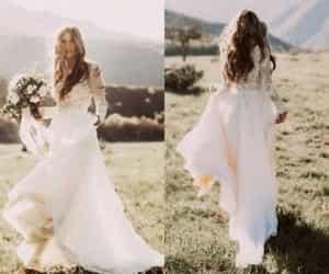 country wedding dress and boho wedding dress image