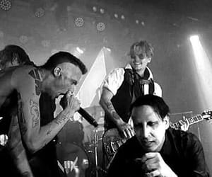 concert, johny depp, and Marilyn Manson image