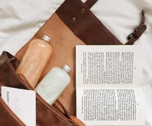 bag, reading, and travel image