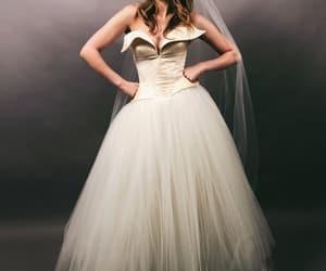 dress, wedding, and elizabeth gillies image