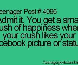 quotes, crush, and facebook image