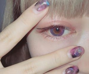 contact, eye, and fashion image