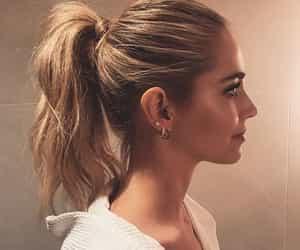 fashion, hair, and ponytail image