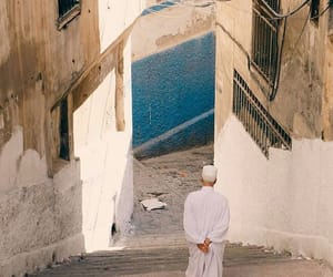 muslim, street, and white image