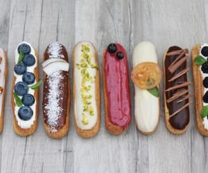 food, yummy, and eclairs image