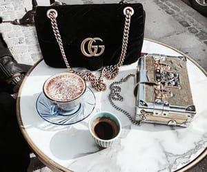 gucci, bag, and coffee image