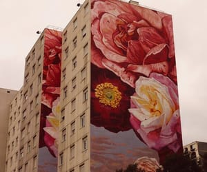 flowers, art, and building image