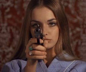 girl, gun, and aesthetic image