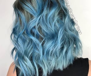 blue, girl, and hair style image