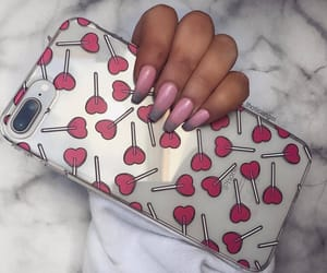 hearts, nails, and phone cases image