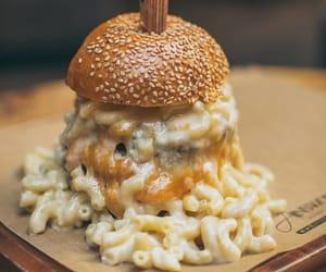 burger, macaroni, and pasta image